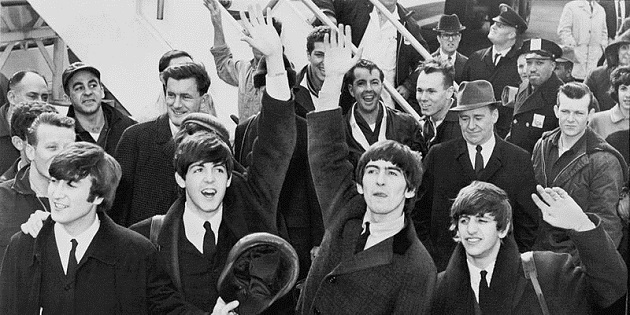 The_Beatles_arrive_at_JFK_Airport America 1964 United Press International