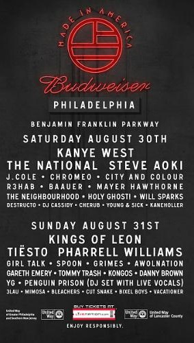 Live Nation Entertainment Made In America