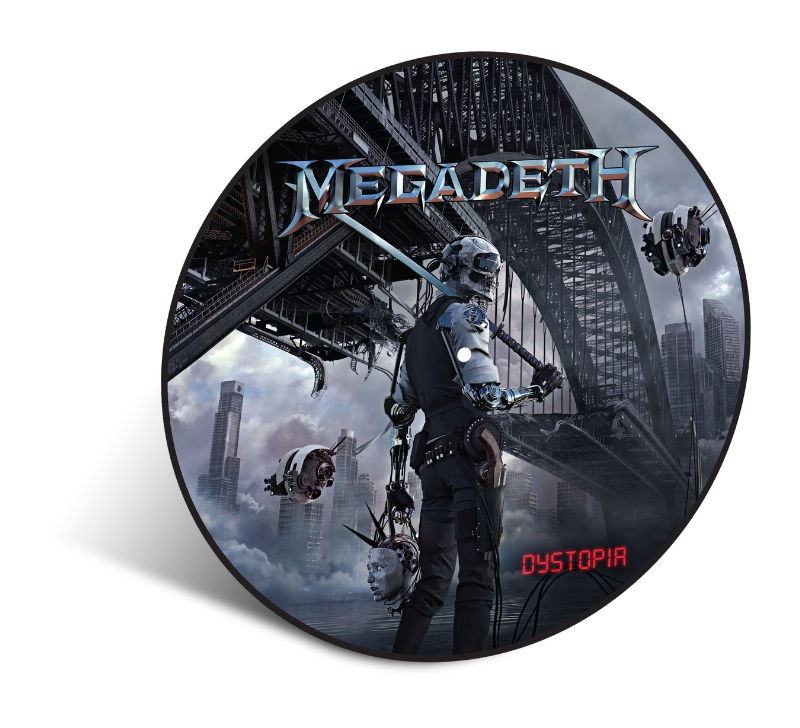 MEGADETH's New Critically Acclaimed Album 'Dystopia' To Be Issued As A Limited Edition Vinyl Picture Disc on April 8 (PRNewsFoto/Universal Music Enterprises)